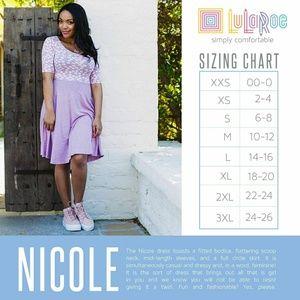 LuLaRoe Dresses - ❤ SALE! Lularoe NICOLE Pink&Orange Floral Dress